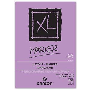 BLOCO CANSON MARKER XL 70G A4 100 FOLHAS