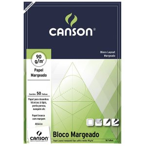 BLOCO CANSON LAY OUT MARGEADO 90GR 50FL