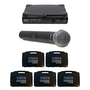 Kit 5 Microfones sem Fio TK-U120 UHF Onyx