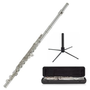 Kit Flauta Transversal YFL-212 Wc Soprano Yamaha + Suporte Konig & Meyer