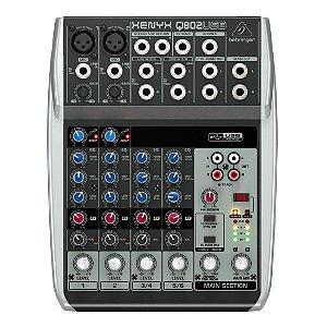 Behringer XENYX Q802USB | Mixer 8 Canais com USB