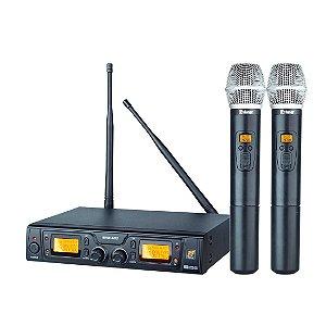 Staner SRW48D | Microfone sem Fio UHF Duplo de Mão