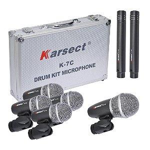 Karsect K7C | Kit de Bateria com 7 Microfones