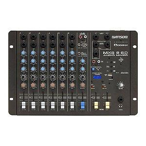 Ciclotron MXS 8 SD | Mesa de Som 8 Canais com USB