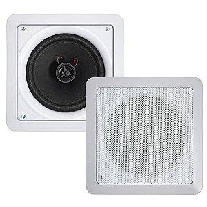 Natts AQ6 | Caixa de Som para Embutir Quadrada 6 Pol