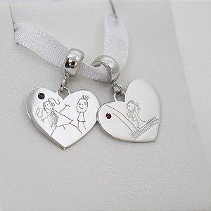 Pingente ou Berloque Coração 1,8cm