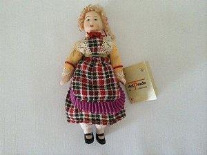 Boneca Para Colecionar - Casa De Bonecas Escala 1/12