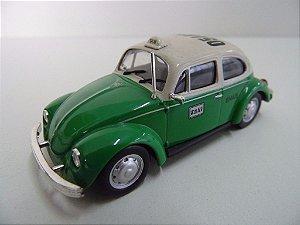 Miniatura Volkswagen Beetle Fusca, Esc. 1:43 Táxi Df México