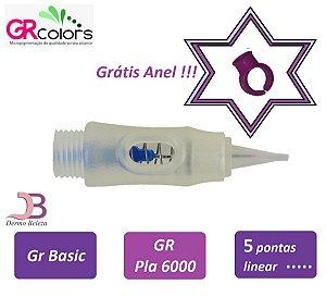 Agulha GR Basic, Pla 6000 ou Classic A, 5 Pontas Linear , Grátis Anel !!!