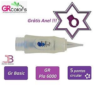 Agulha GR Basic, Pla 6000 ou Classic A, 5 Pontas Circular , Grátis Anel !!!