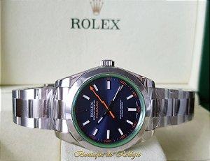 0ffeb92c756 Rolex Milgauss Dial Azul Aço 904L SH3131 - Arf Best Edition