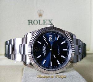 991fce6c27a Rolex Datejust Dial Azul - Arf Aço 904l
