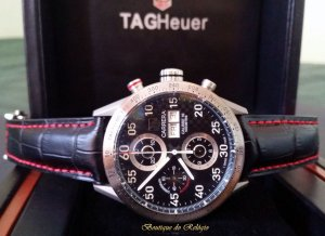 332012ea11c Tag Heuer Carrera Chronograph Calibre 16 Day-date Titanium