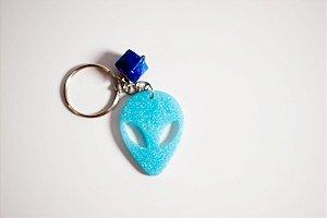 Chaveiro Alien azul