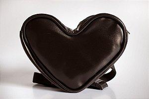 Pochete Coração preto plus size