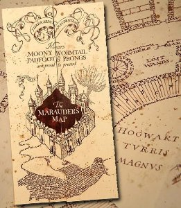 Inspiração - Mapa do Maroto - Harry Potter