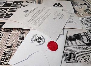 Carta de Aceitação de Hogwarts + Envelope e Lacre (COM O SEU NOME)