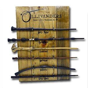 Porta Varinhas Ollivander's Madeira | Decoração Harry Potter