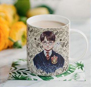 Caneca Branca Harry Potter