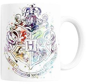 Caneca Mágica com Glitter (Brasão de Hogwarts)