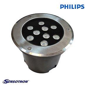 Balizador LED de Piso de Embutir 15W 220V IP67 Philips