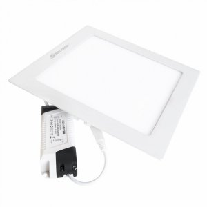 Painel Plafon Led 18w Quadrado Embutir Branco Quente Luminária