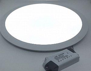 Luminária Plafon LED circular Downlight Bivolt FRIA 35W 40CM