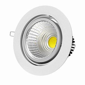 Luminária Led Cob 5w Circular Cor Fria
