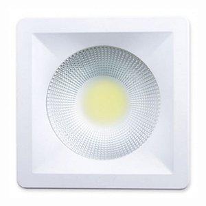 Luminária Cob Led Spot 20w Quadrada - Branco Quente