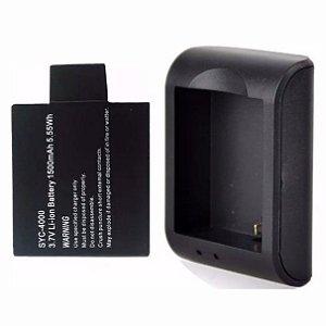 Kit Carregador + Bateria Câmera De Ação