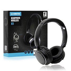 Fone De Ouvido Kimaster K1 - Headphone Bluetooth Com 1 Ano De Garantia