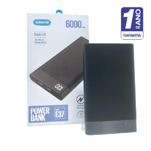 Power Bank 6000 Mah Com Visor Digita - 1 Ano De Garantia!