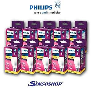 Kit 10 Lâmpadas Led Bulbo 13,5w = 100w Philips 1521lm Bivolt