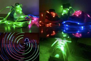 Kit 5 Cadarços luminosos de Led