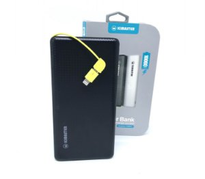 Power Bank original Pineng 10.000 mAh com cabo embutido