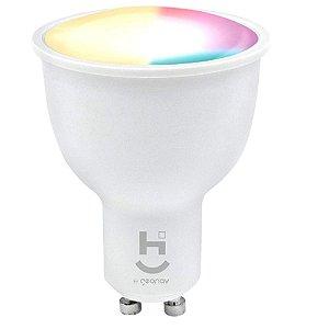 Lâmpada Inteligente RGB+W Dicróica Bivolt - HI Geonav