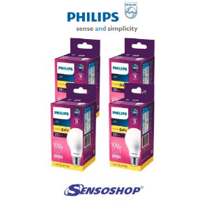 Kit 4 Lâmpadas Led Bulbo 13,5w = 100w Philips 1521lm Bivolt