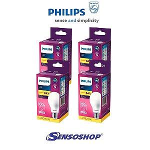 Kit 4 Lâmpadas Led Bulbo 13,5w = 100w Philips 1521lm Bivolt