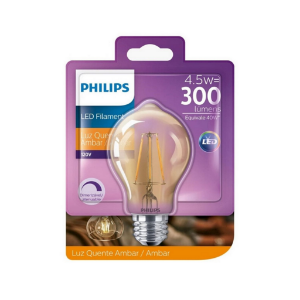 Lâmpadas Retrô Filamento Led 4,4w = 40w A60 300lm Philips