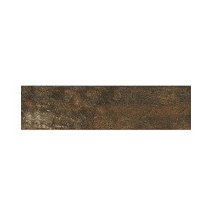 Piso cerâmico Aroeira mate retificado 19x74 marrom Savane