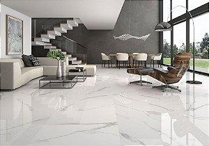 Porcelanato Bianco Carrara Lux Polido 61,8 x 61,8 cm Embramaco - Caixa com 2,67M2