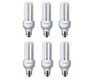 kit 6 Lâmpadas ECO HOME STICK  18W E27 110V  Branco Frio  PHILIPS