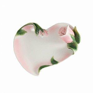 Prato de porcelana coração