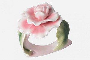 Anel de guardanapo - Flor de porcelana
