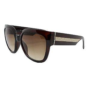 Óculos de Sol Feminino Color People Linha NY Marrom Degradê + Estojo de Brinde
