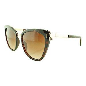 Óculos de Sol Feminino Color People B88 Marrom Onça + Estojo de Brinde