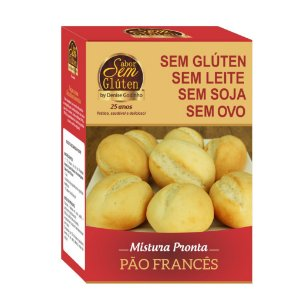 Mistura para Pão Francês Sem Glúten Sem Leite Sem Soja Sem Ovo