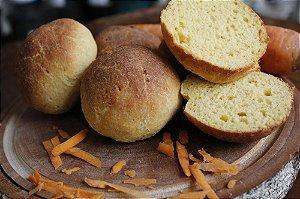 Pão Funcional de Cenoura Sem Glúten Sem Lactose Sem Leite Sem Açúcar (4 Unidades)