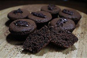 Bolo de Cacau Low Carb Diet Sem Glúten Sem Lactose Sem Açúcar - 04 Unidades