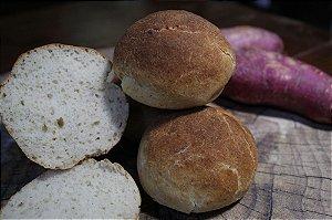 Pão Funcional de Batata Doce Sem Glúten Sem Lactose Sem Leite Sem Açúcar - 4 Unidades